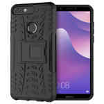 Dual Layer Rugged Tough Shockproof Case for Huawei Nova 2 Lite - Black